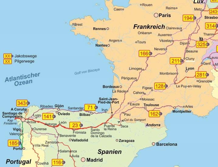 Caminos de Santiago: paso por Cluny (geobuchhandlung.eshop.t-online.de)