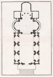 Andrea Palladio: Planta del Redentor, 1783. Estampa de Scamozzi. Foto: wikipedia.