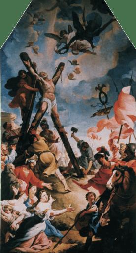 Francisco Ignacio Ruiz de la iglesia: Martirio de San Andrés. Iglesia de Casarrubios (Toledo).