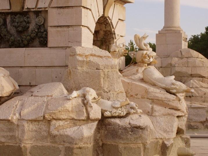 Juan Adán: Detalle del león de Nemea.