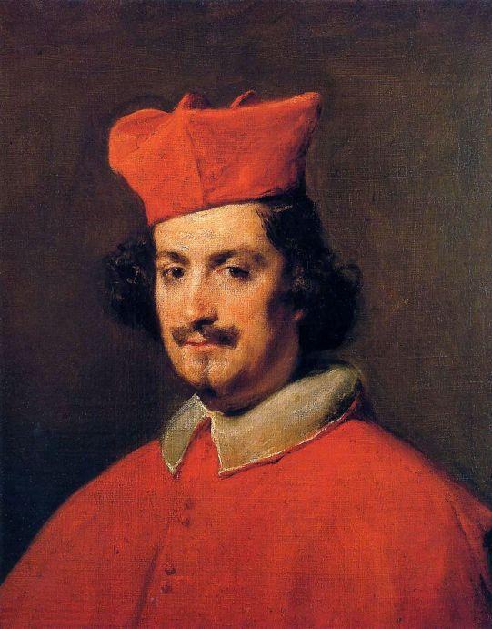 Diego Rodríguez de Silva y Velázquez, Retrato de Camilo Astalli, cardenal Pamphili, ca. 1650. Nueva York, Hispanic Society.