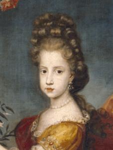 Fig. 6. Detalle del rostro de la archiduquesa María Isabel de Austria en el cuadro del Museo del Prado.