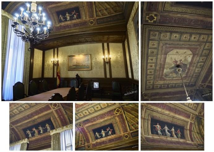 Bóveda de Apolo en la sala de reuniones del Cuartel General de la Armada (CGA). Fuente: madrida360.es