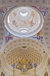 Cúpula, pechinas y ábside del Oratorio del Caballero de Gracia en la actualidad. Foto: caballerodegracia.org