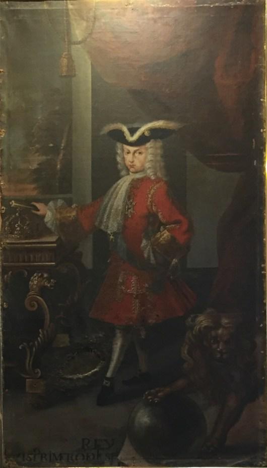 Anónimo, Luis I, ca. 1724. Paeria de Cervera. Foto. Investigart.