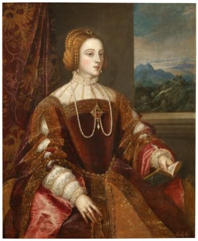 Tiziano, La emperatriz Isabel de Portugal. Museo del Prado, Madrid.