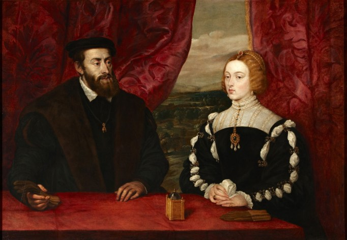 Peter Paul Rubens (según Tiziano), Carlos V e Isabel de Portugal. Fundación Casa de Alba. Foto: wikpedia.
