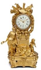 Real Fábrica de Relojería Madrileña de los hermanos Charost, Reloj de sobremesa de «La alegoría de las Artes». Fuente: © Patrimonio Nacional