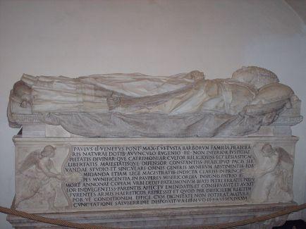 Mino da Fiesole y Giovanni Dálmata. Tumba de Paulo II. Grutas Vaticanas. Foto: wikipedia.