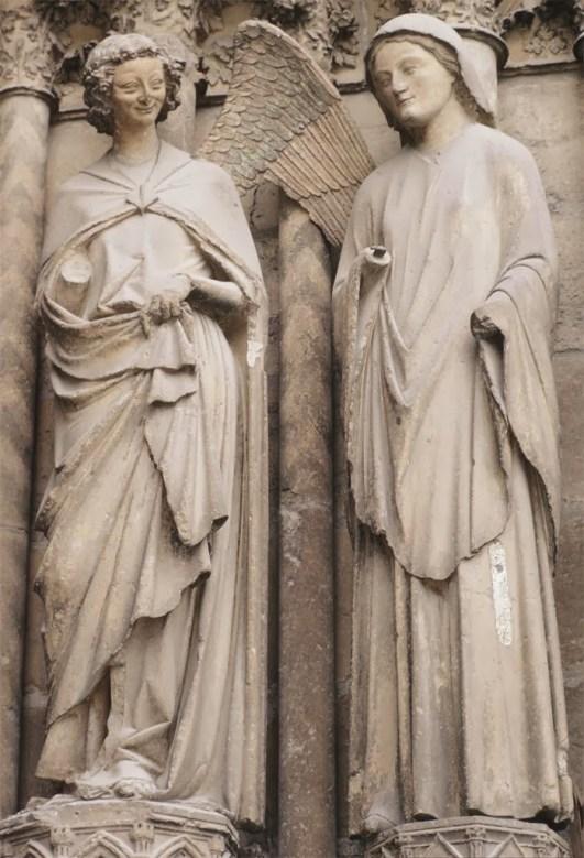 Maestro de la sonrisa, Anunciación. Catedral de Reims (Francia). Foto: Wikimedia Commons.