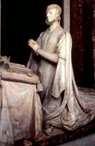 Pompeo Leoni, detalle de la escultura de la princesa en la capilla funeraria de Juana de Austria. Descalzas Reales de Madrid. Foto: Pasión por Madrid.