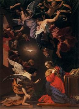 Simon Vouet, Anunciación, 1640. Florencia, Galleria degli Uffizi.