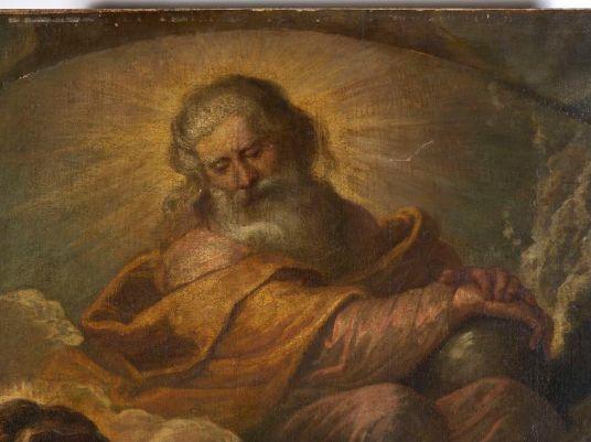 Imagen de Dios Padre antes de la restauración. Foto: Kik-Irpa.