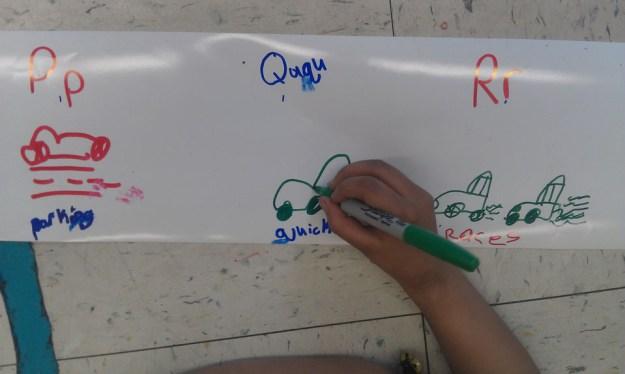 resized writing car words