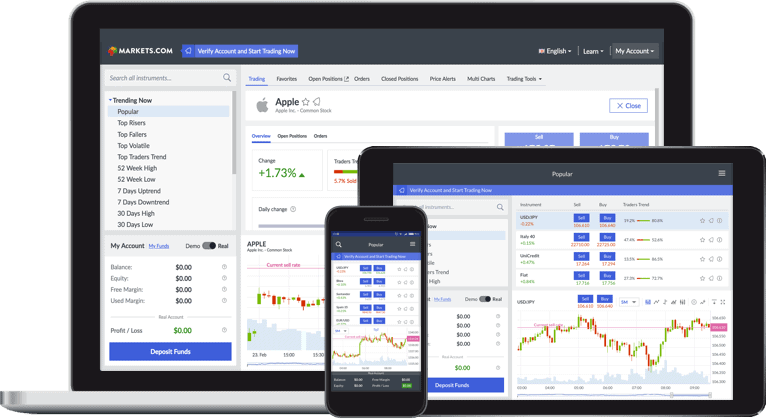 Investire in criptovalute con Markets.com