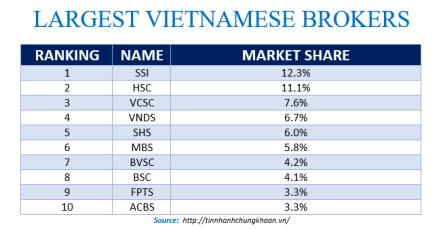 Largest Vietnamese Brokers