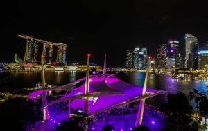 Night, Architecture, City, Singapore, Downtown, Skyline - metals