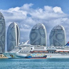 Ship, Hainan, China, Skyline, Ocean Liner - REITS