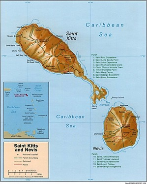 Saint Kitts and Nevis Map - Asset Protection