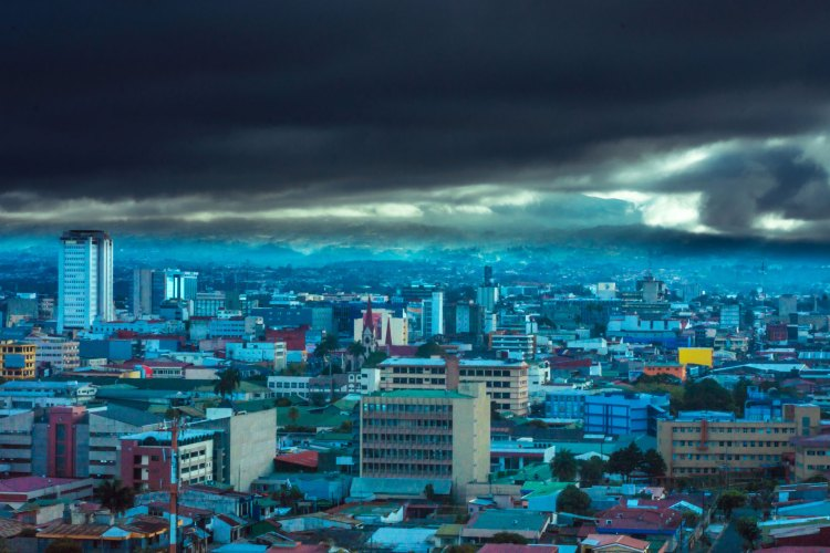 Threatening skies, San Jose, Costa Rica - Home of the Bitcoin Casino Platform