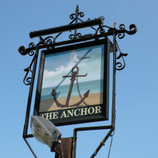 Sign of the Anchor near to Burwell, Cambridgeshire, Great Britain for offshore companies