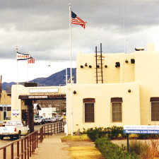 United States border at Naco, Mexico - U.S. Citizenship