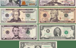 Money USD notes