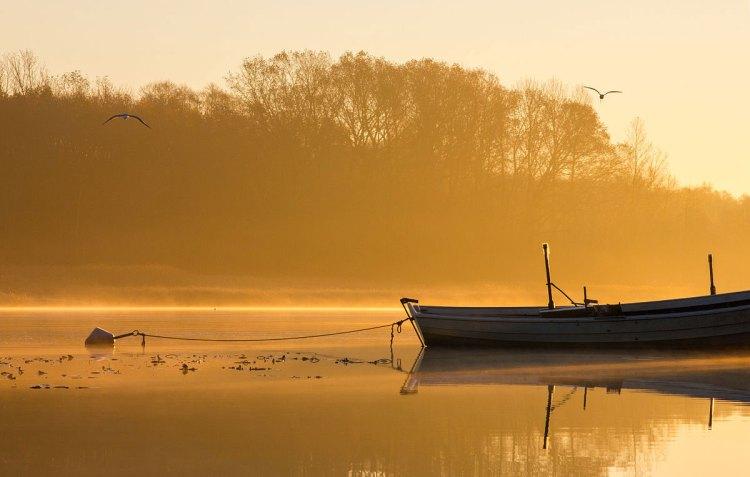 Sunrise in Pärnu river, Estonia - Retirement