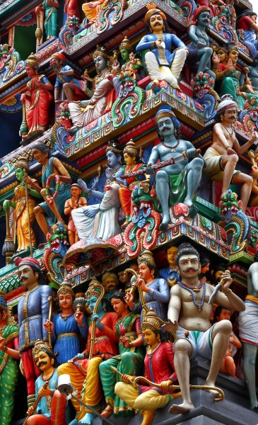 The Gopuram tower at the entrance of the Sri Mariamman Temple, Singapore - Private Banker