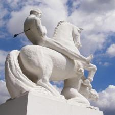 Statue of Leszek I the White in Marcinkowo Górne - IRA