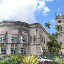 The parliament building in Bridgetown, Barbados