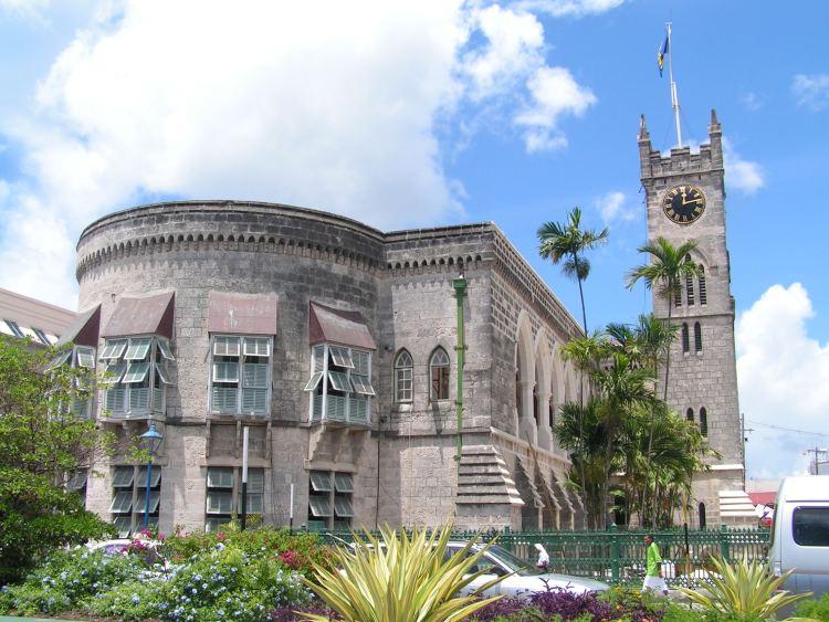 The parliament building in Bridgetown, Barbados