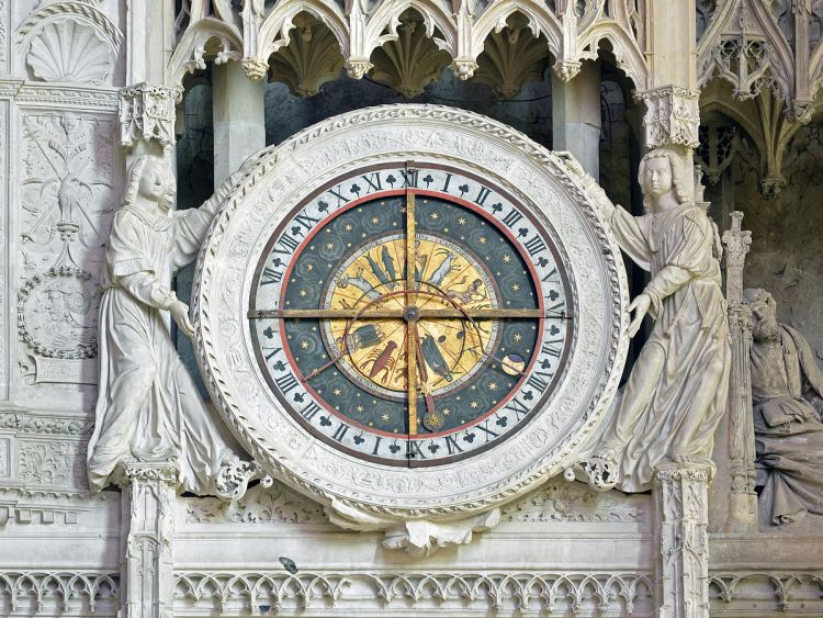 Interior astronomical clock in the ambulatory of Chartres Cathedral (Eure-et-Loir, France). - Offshore asset protection structures