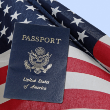 American Flag and Passport - Invest Offshore