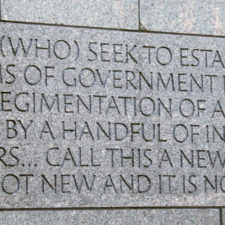 FDR Memorial - Washington DC - Great Depression comparison