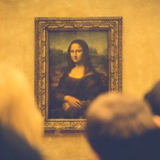 Portrait of Mona Lisa in Paris