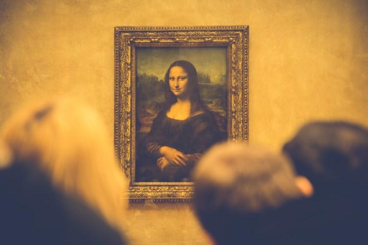 Portrait of Mona Lisa in Paris
