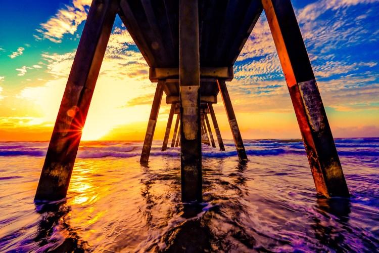 sunset summer ocean