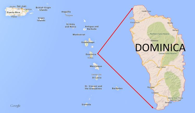Citizenship by Investment - Dominica Map