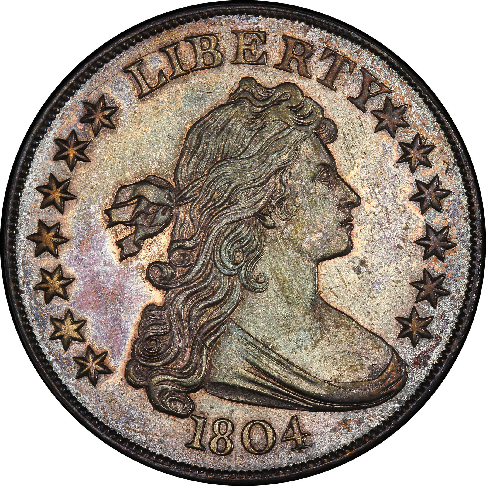 The most valuable U.S. rare coin purchased at auction in 2017 was this 1804-dated silver dollar sold by Stack's Bowers Galleries for $3,290,000. (Image courtesy of Stack's Bowers Galleries.)