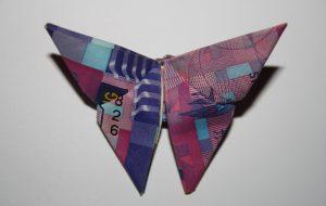 Li Ka-shing Dollar, Hong Kong, Butterfly, Origami,