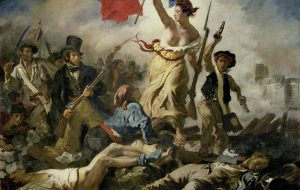Liberty Leading the People. 1830 by Eugène Delacroix Oil on canvas, 260 x 325 cm. Louvre, Paris - Where we go one, we go all! WWG1WGA