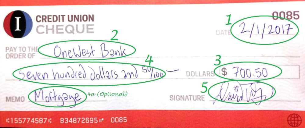 medium resolution of example of a completed check