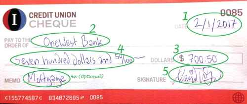 small resolution of example of a completed check