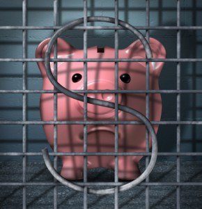 Piggy Bank in a Cage