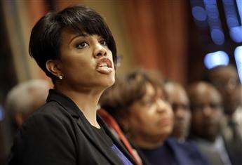 Did Baltimore Mayor Stephanie Rawlings-Blake, speaking above about Freddie Gray, encourage rioting?