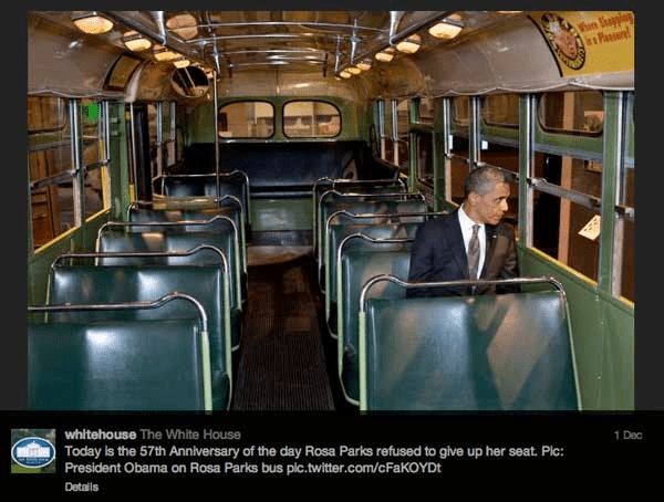 White House blog  (Barack Obama was no civil rights activist in the American South. But he played one in this photo op)