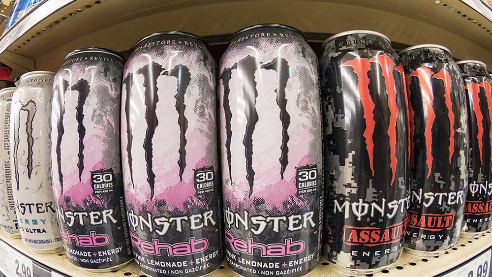 monster beverage misses stock