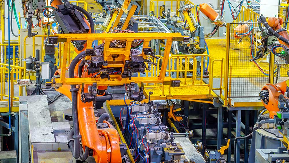 industrial robots march into