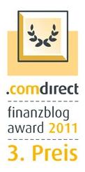 Dritter Platz für Investors Inside beim comdirect Finanzblog Award 2011